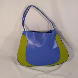 Clinique Tote Blue & Lime Green